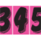 7 1/2 inch Hot Pink Adhesive Number