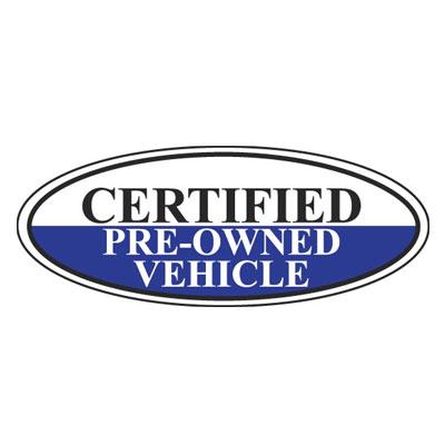 certified pre owned vehicle oval sign ez196 f. Black Bedroom Furniture Sets. Home Design Ideas