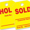Hold/Sold Rearview Mirror Hang Tag {EZ217}