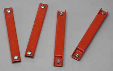 red rubber coated magnetic license plate holder ez245 red