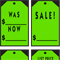 Chartreuse Stick-On Tags {EZ260-CH}