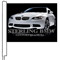 Custom Single Sided Clip-On Car Flag {EZ418-CUST}