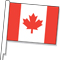 Clip-On Canada Car Window Flag {EZ449}