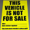 Vehicle Not For Sale Decal {EZ605}